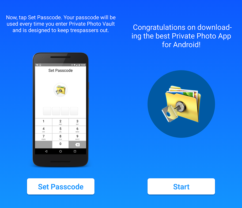 Hide media with private photo app