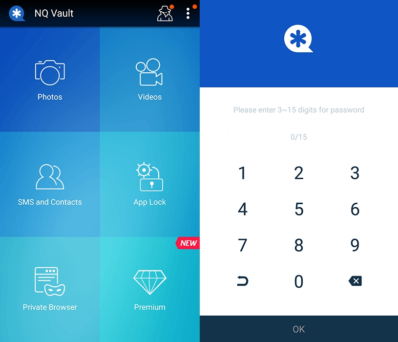 hide pictures and videos with vault app