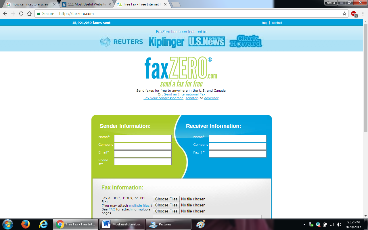 11. faxzero - 100+ most useful websites list we are not yet familiar with