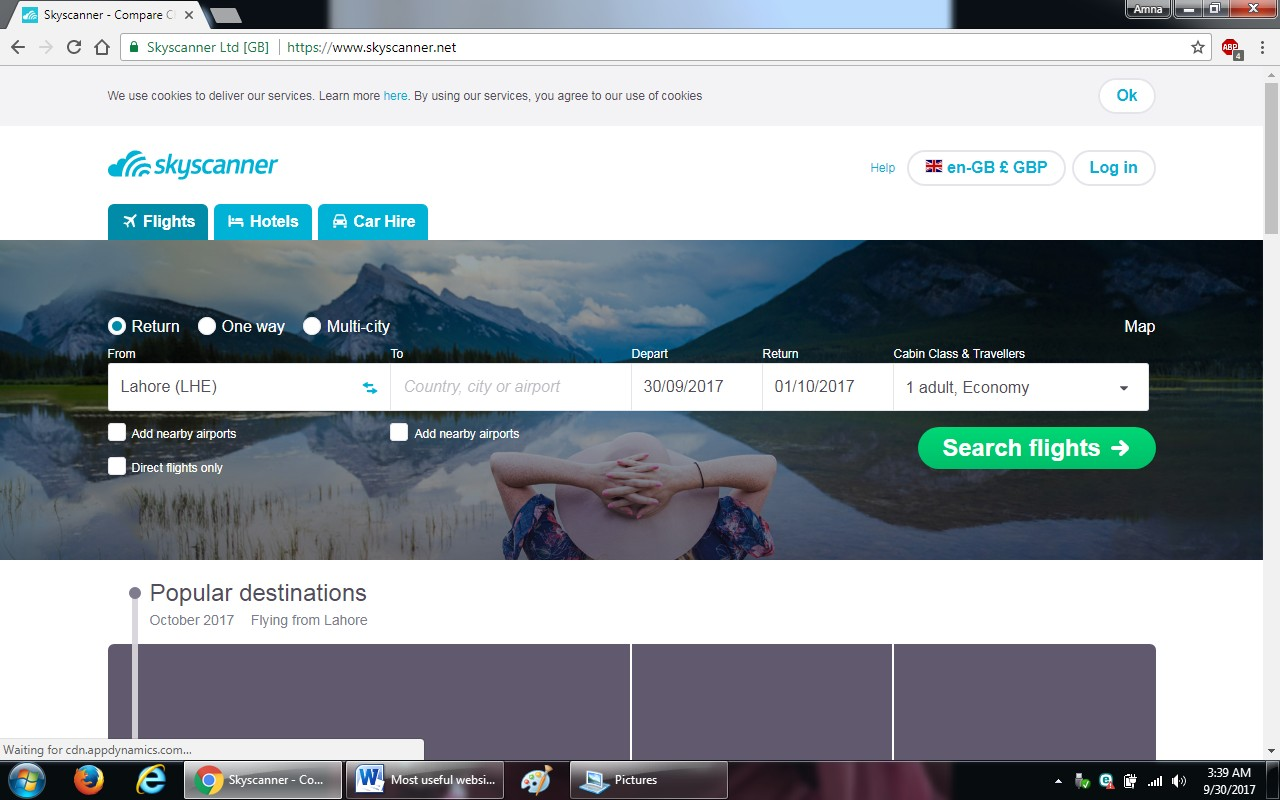 21. skyscanner - 100+ most useful websites list we are not yet familiar with