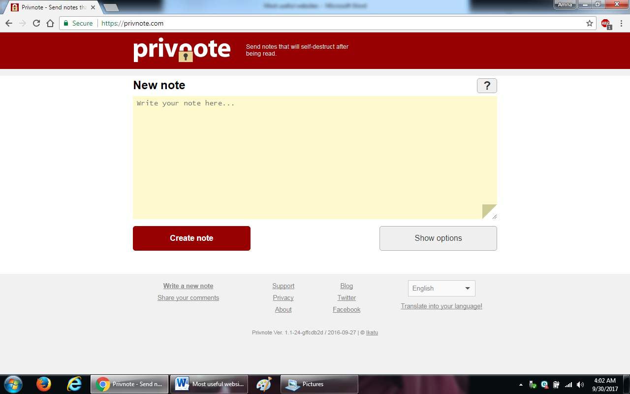23. privnote - 100+ most useful websites list we are not yet familiar with