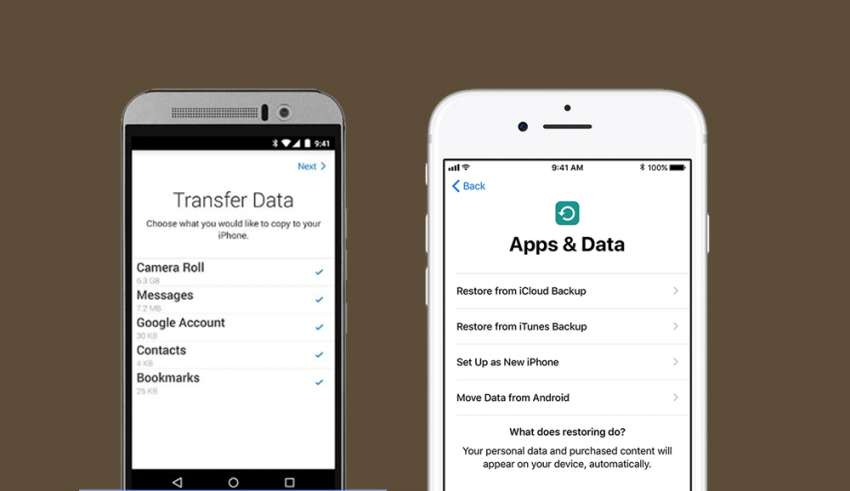 How to transfer data from Android device to iPhone