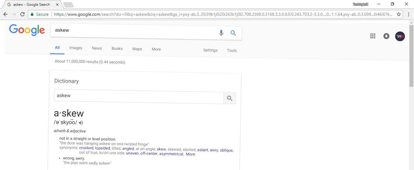 google askew trick