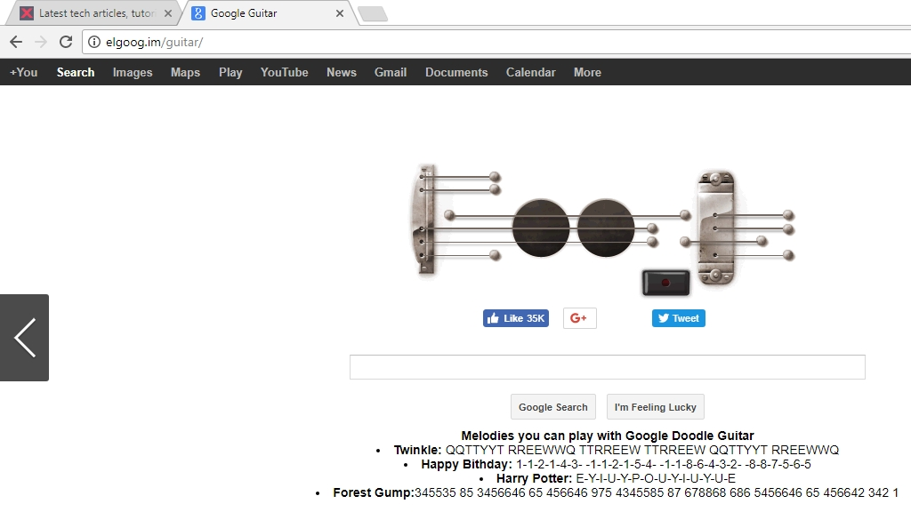 google guitar search