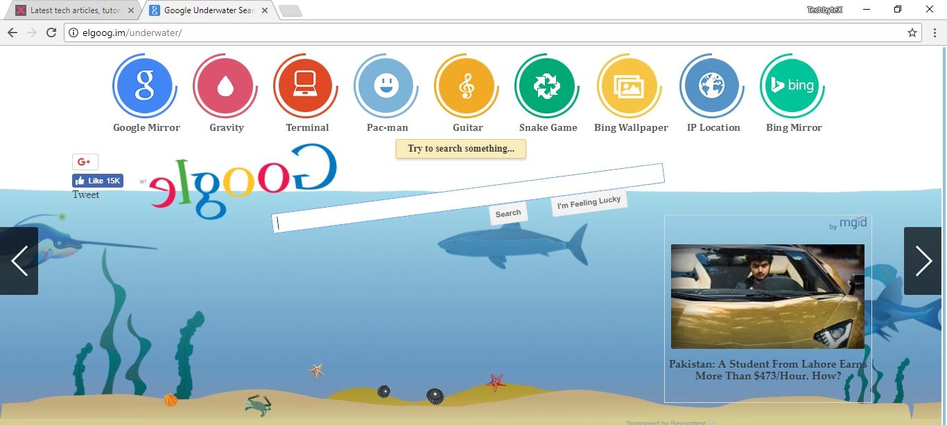 google shuixia underwater search