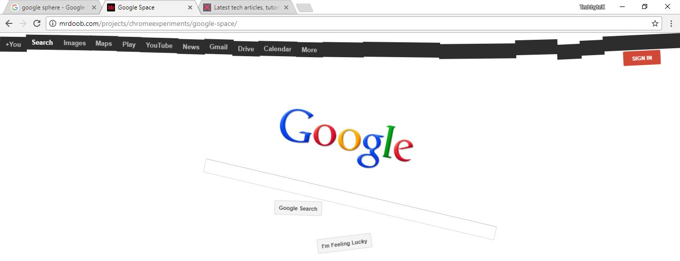 google space doob trick