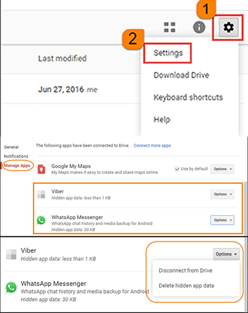 how to delete whatsapp backup
