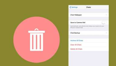 how to delete whatsapp chat from iphone