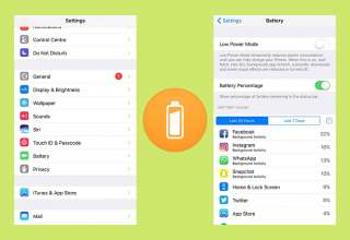 iPhone Battery life Percentage Mode track your battery usage