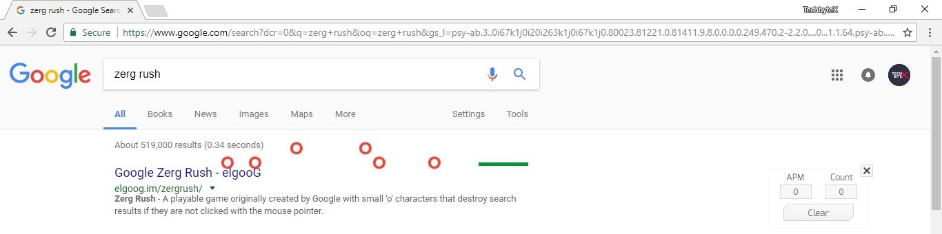 zerg rush google game