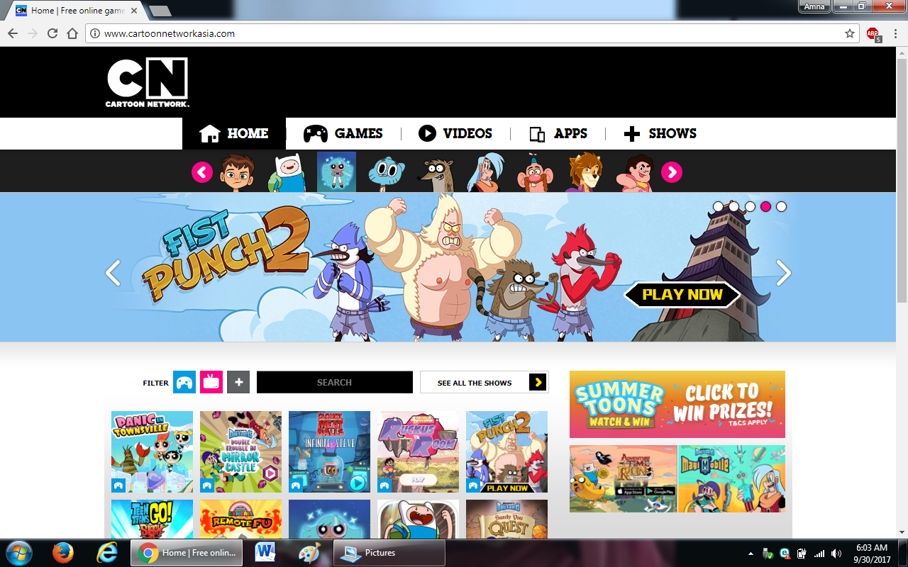 100 cartoonnetwork.com  - 100+ most useful websites list we are not yet familiar with