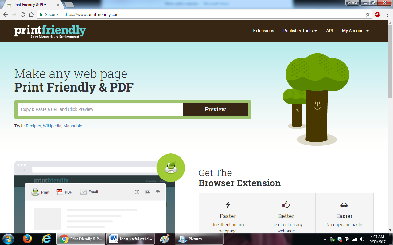 26. printfriendly.com  - 100+ most useful websites list we are not yet familiar with