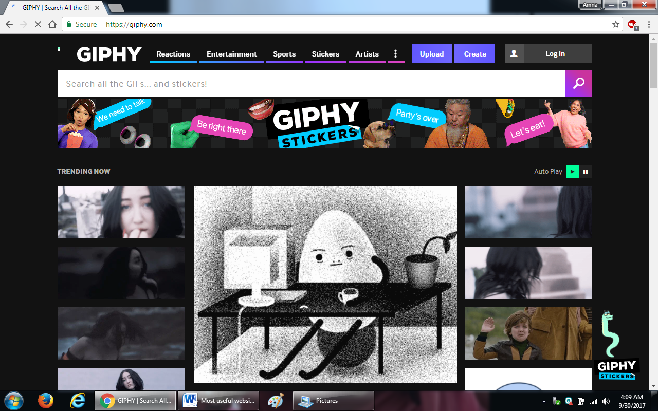30. giphy.com  - 100+ most useful websites list we are not yet familiar with