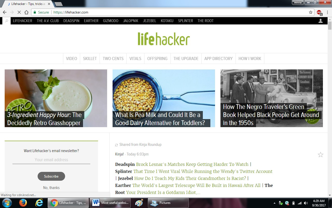 46. lifehacker.com  - 100+ most useful websites list we are not yet familiar with