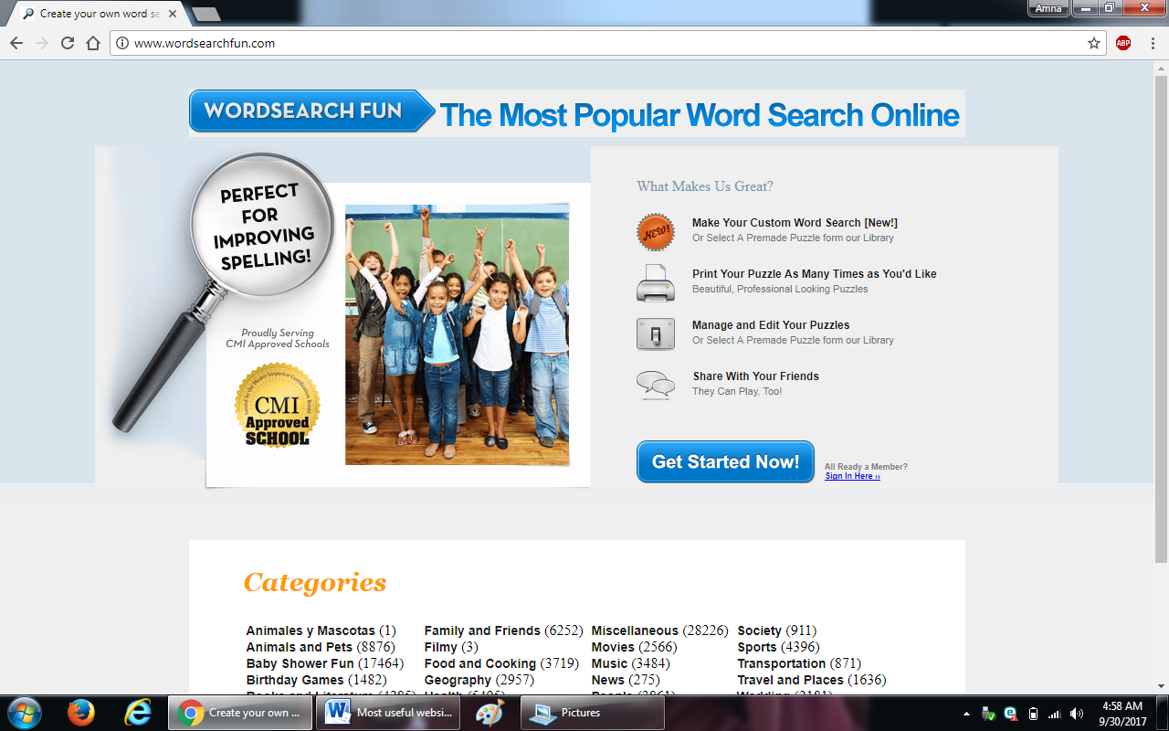 65. wordsearchfun.com  - 100+ most useful websites list we are not yet familiar with