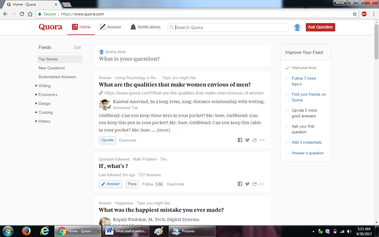 77. quora.com  - 100+ most useful websites list we are not yet familiar with