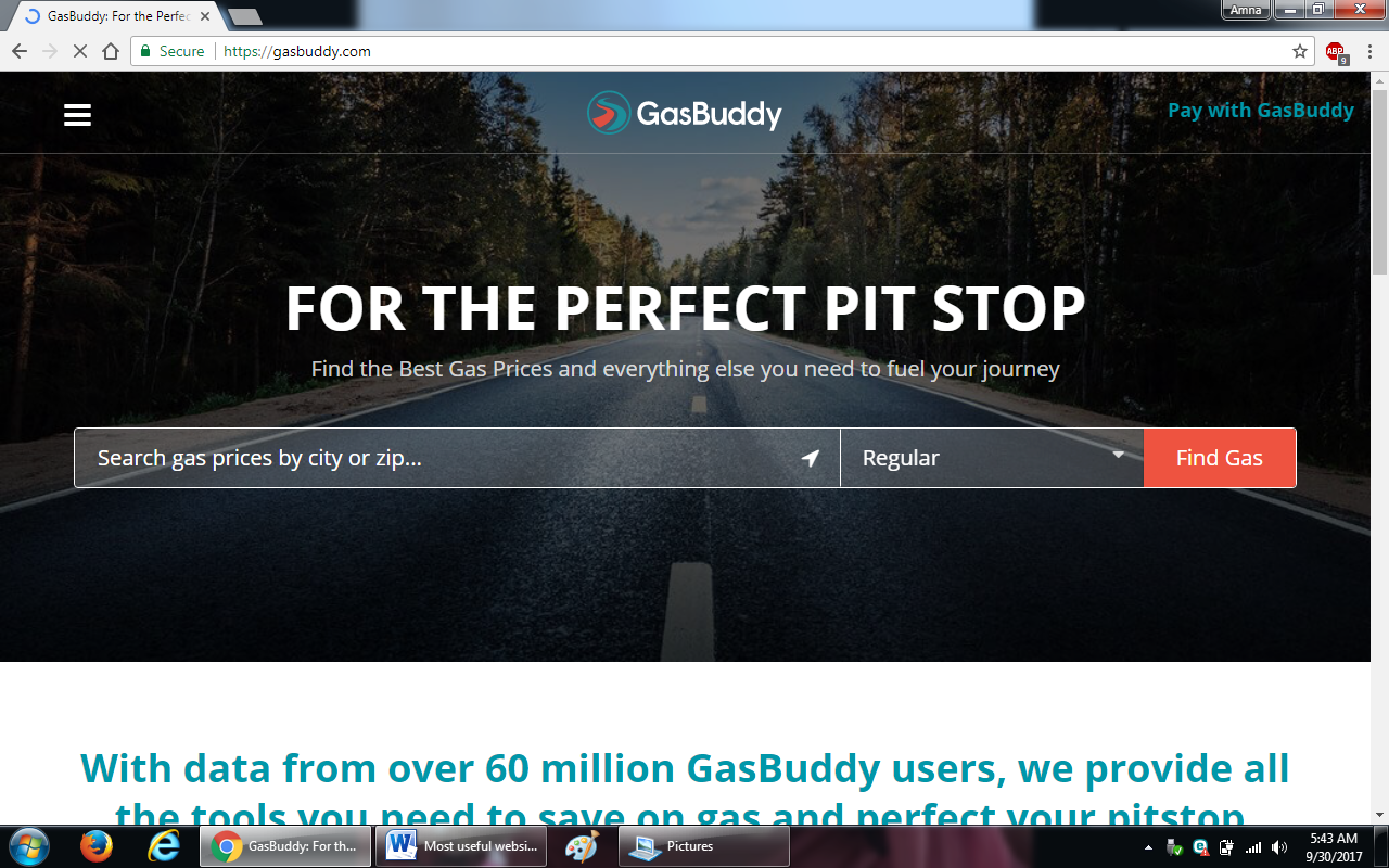 89.gasbuddy.com  - 100+ most useful websites list we are not yet familiar with