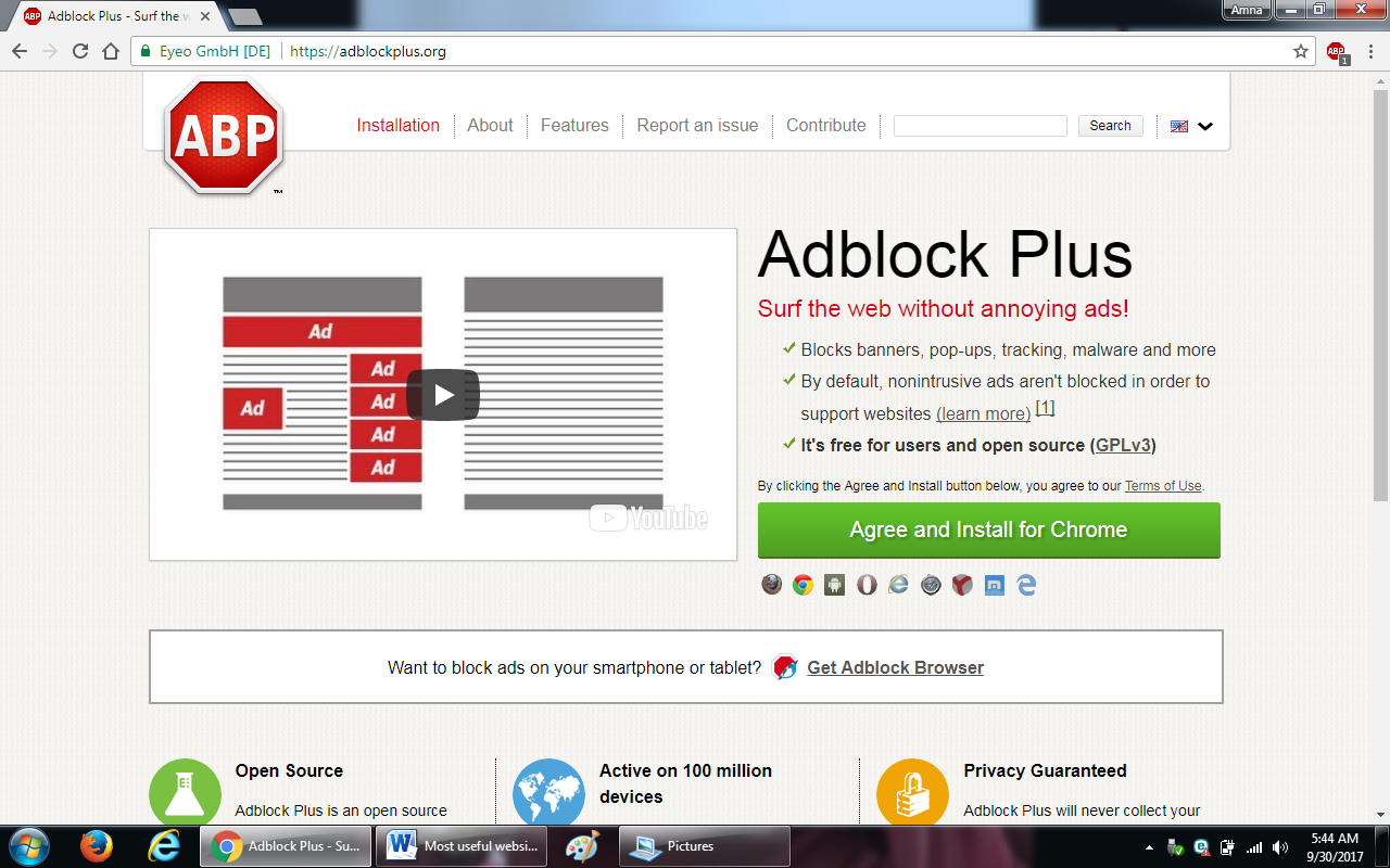 90. adblockplus.org  - 100+ most useful websites list we are not yet familiar with