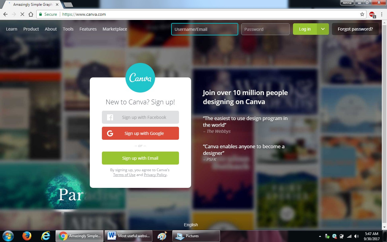91. canva.com  - 100+ most useful websites list we are not yet familiar with