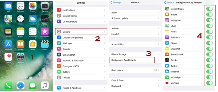 Switch Off background app refresh to save cellular data - Best ways to save cellular data on iPhone