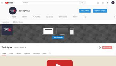 Youtube channel art size Dimensions upload practices and icon Details Techbytex 384x220 - Youtube Channel Art - Size Dimensions, Uploading, Best Practices and Icon Details