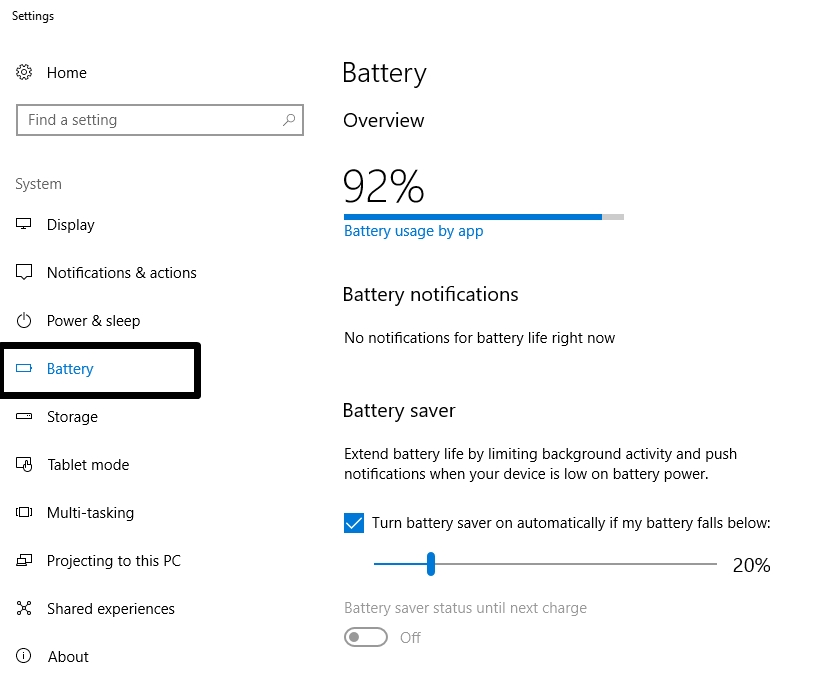 battery saver mode in windows 10 - Power Saver Mode Windows 10 - Manage Power Plan for battery battery life