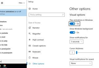 disable animations in windows 10 from settings 320x220 - Disable Animations in Windows 10 - Operating System