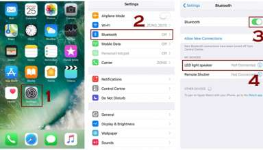 how to turn on bluetooth and bluetooth pairing iphone 384x220 - How to Pair and UnPair Bluetooth device in iPhone
