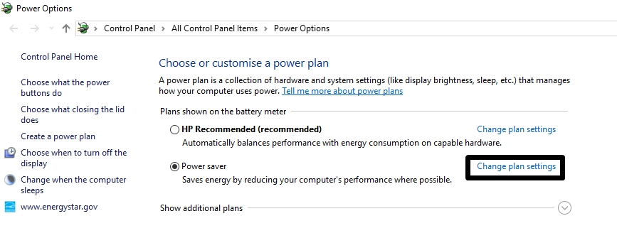 power options in windows - Power Saver Mode Windows 10 - Manage Power Plan for battery battery life