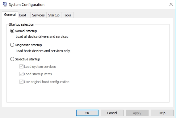 startup tab in system configuration - Disable Startup Programs in Windows 10 - Operating System