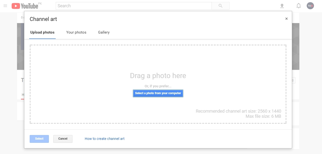 upload youtube channel art - Youtube Channel Art - Size Dimensions, Uploading, Best Practices and Icon Details