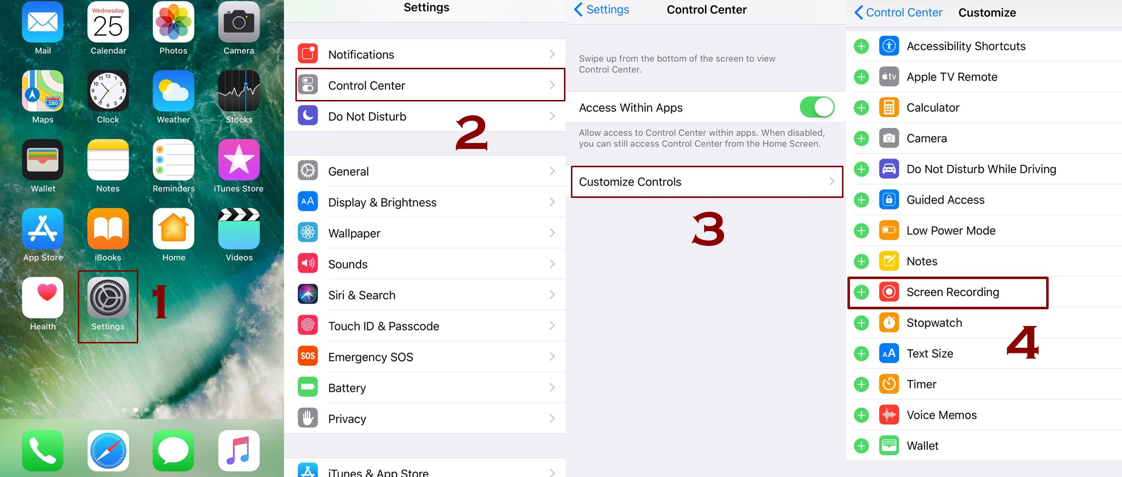 how to add screen recorder in control center ios 11 - Everything About Screen Recording Feature in IOS 11