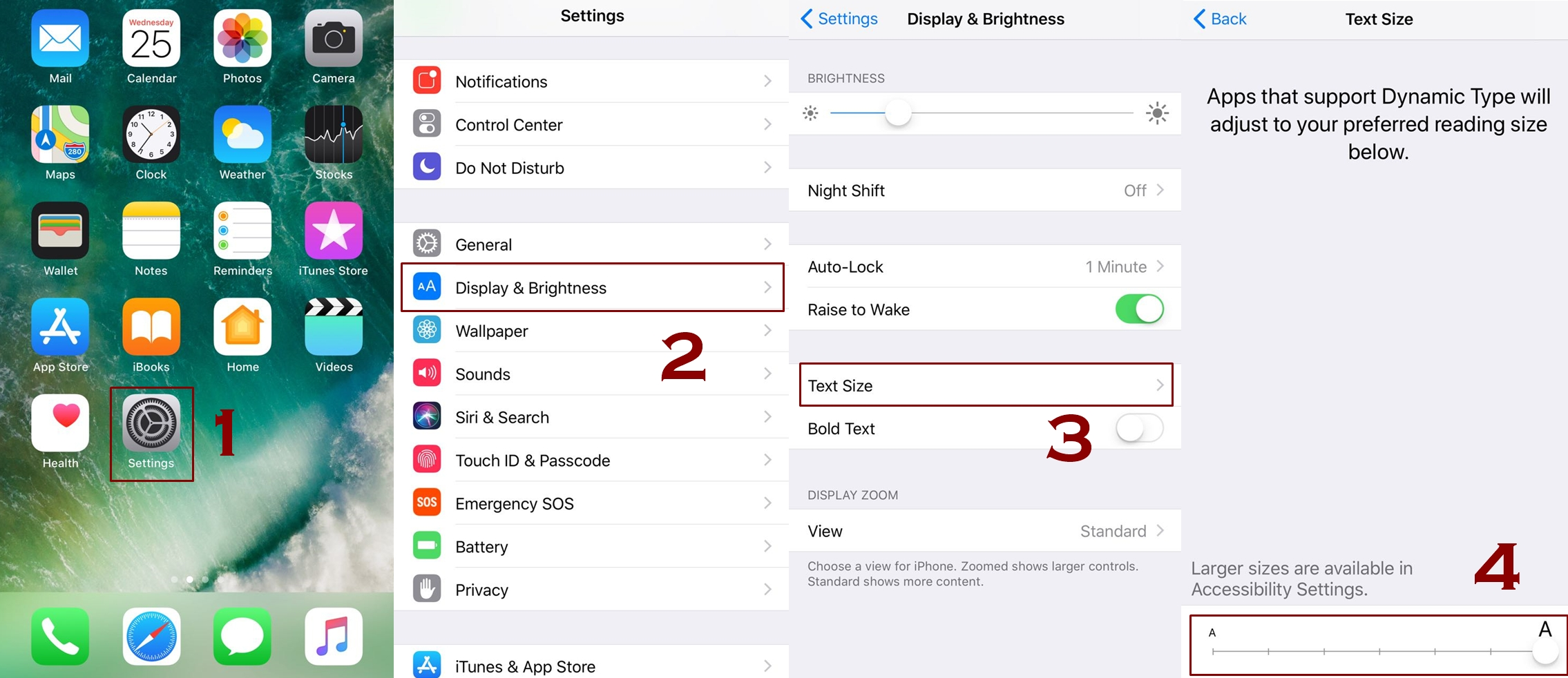how to change text size on iphone from settings - How to change text size on iPhone