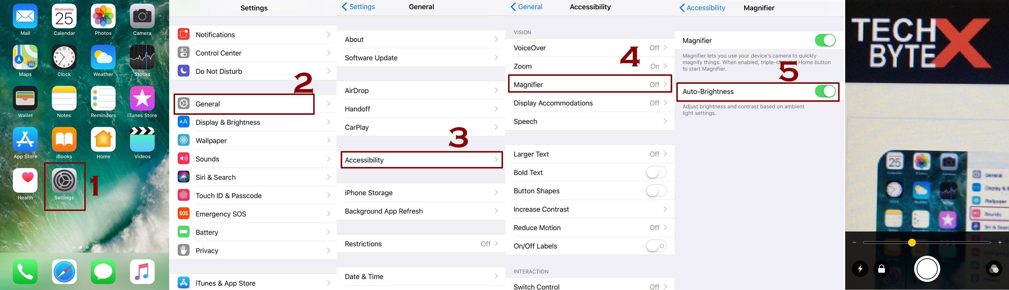 how to enable auto brightness in magnifier on iphone - Everything about Magnifier on iPhone