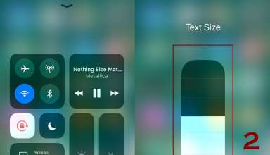 how to increase or decrease text size on iphone 1 384x220 - How to change text size on iPhone