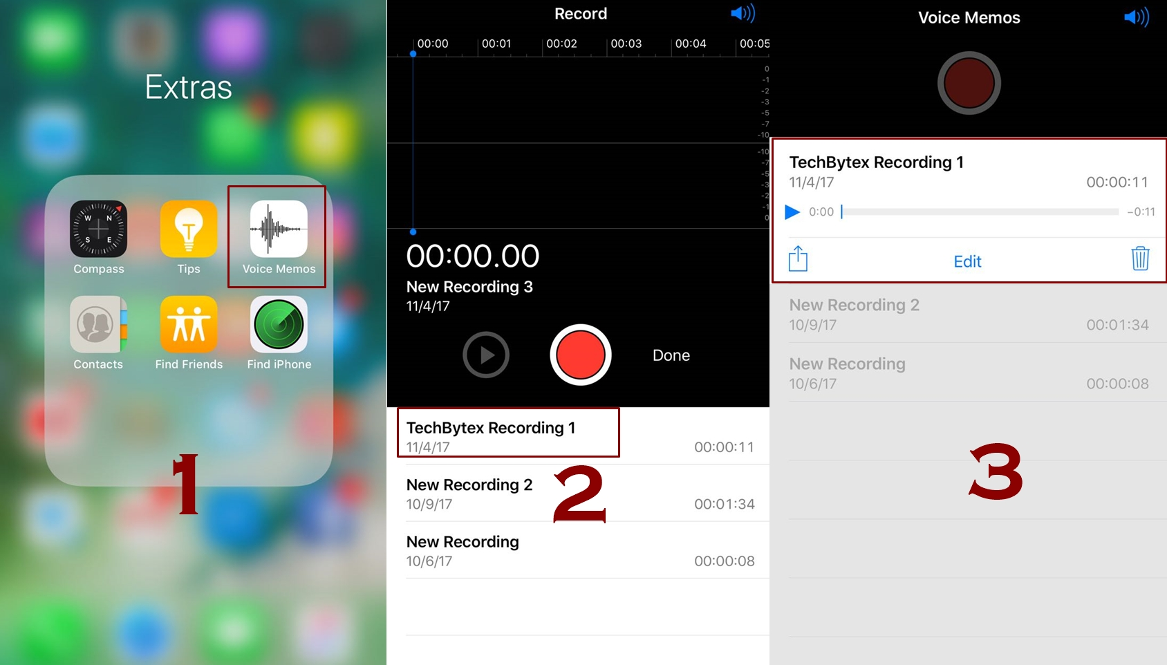 how to listen voice memos in iphone - How to use and record voice memos in iPhone