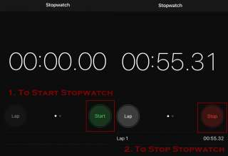 how to stop stopwatch on iphone 320x220 - How to use Stopwatch on iPhone