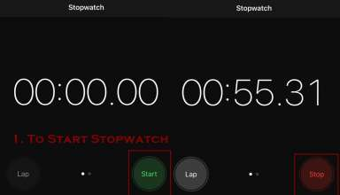 how to stop stopwatch on iphone 384x220 - How to use Stopwatch on iPhone
