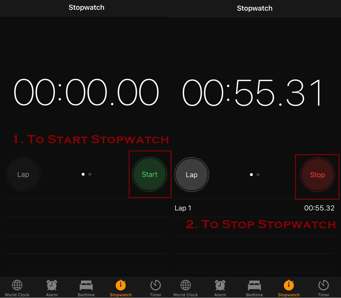 how to stop stopwatch on iphone - How to use Stopwatch on iPhone