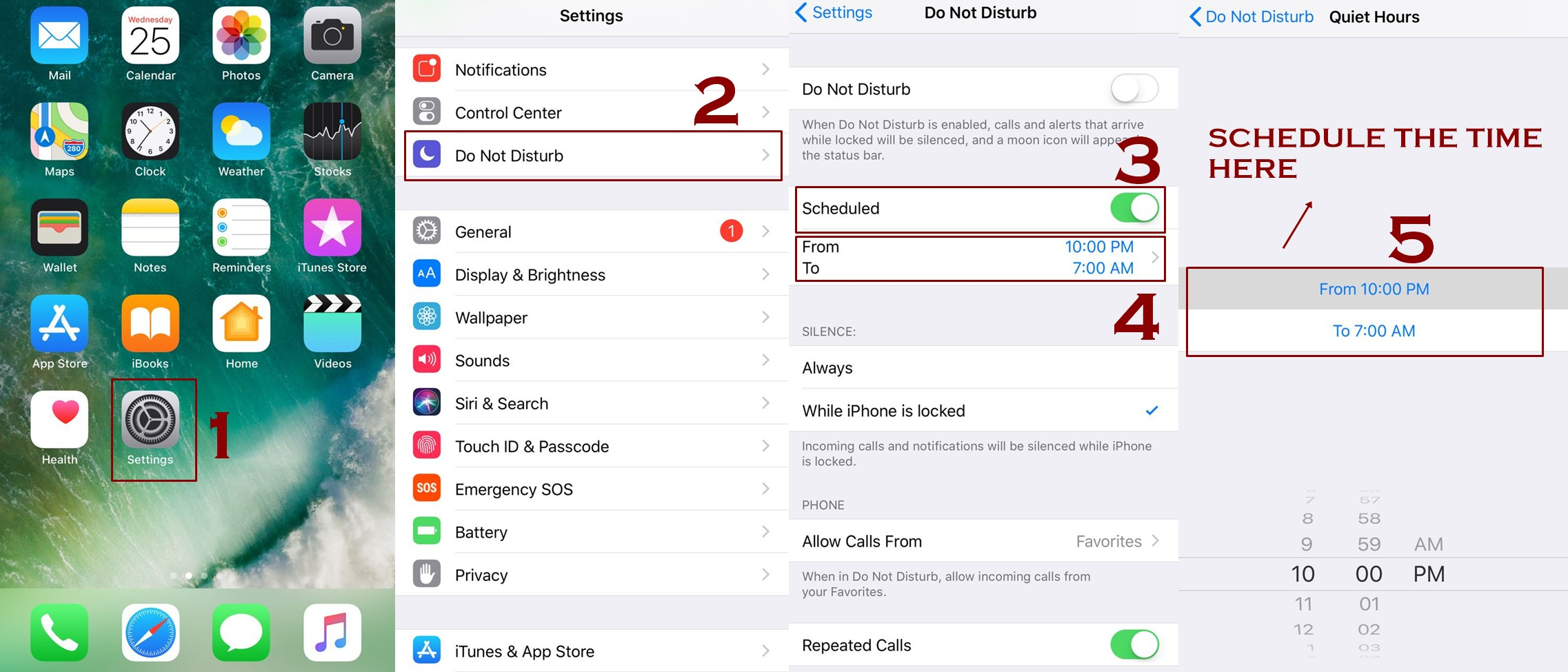 schedule do not disturb mode - How to use Do not disturb Mode on iPhone - IOS Guide