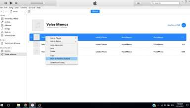 transfer voice memos using itunes 384x220 - How to transfer voice memos from iPhone to Computer