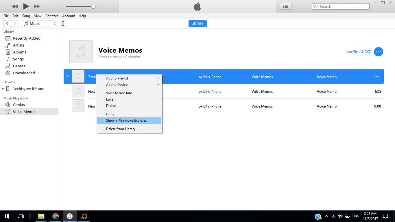 transfer voice memos using itunes - How to transfer voice memos from iPhone to Computer