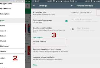 parental controls in play store 320x220 - How to use Parental Controls in Android