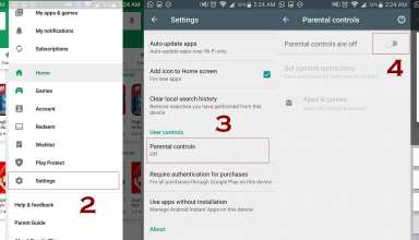 parental controls in play store 384x220 - How to use Parental Controls in Android