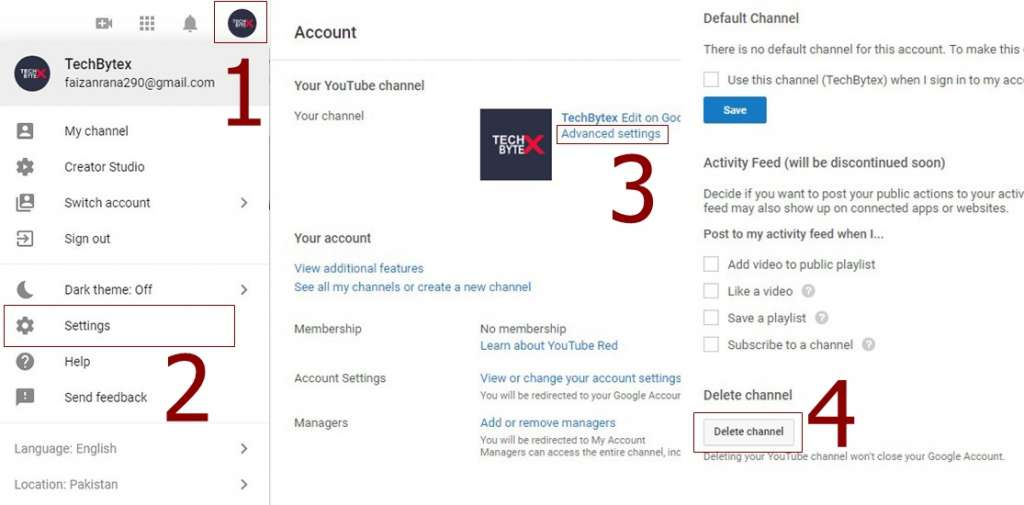 How to delete a youtube channel 1024x505 - How to Delete a video and your Youtube Channel