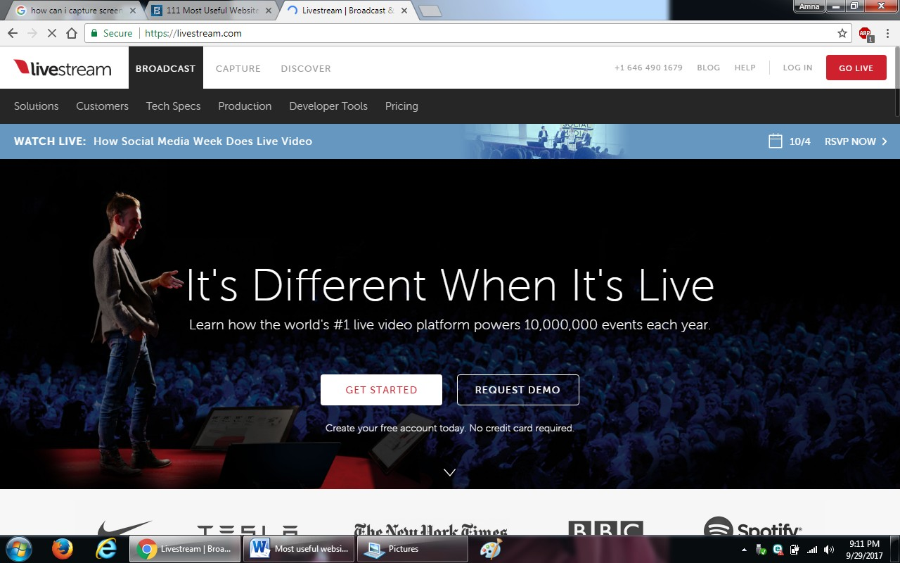 10.livestream - 100+ most useful websites list we are not yet familiar with