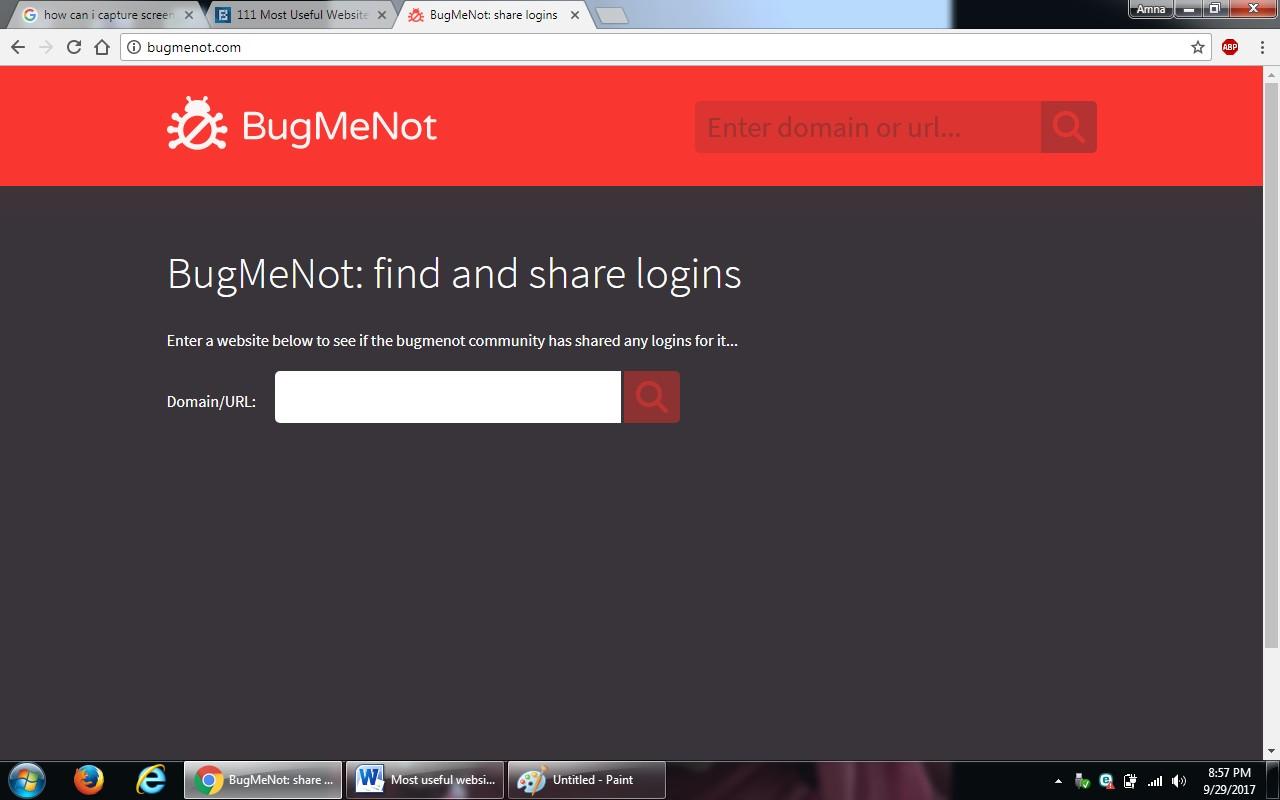 3. bug me not - 100+ most useful websites list we are not yet familiar with