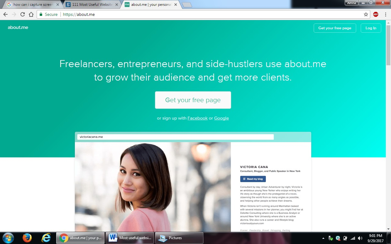 5. about.me - 100+ most useful websites list we are not yet familiar with