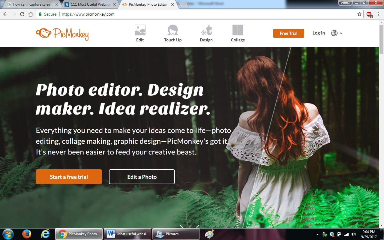 6. picmonkey - 100+ most useful websites list we are not yet familiar with