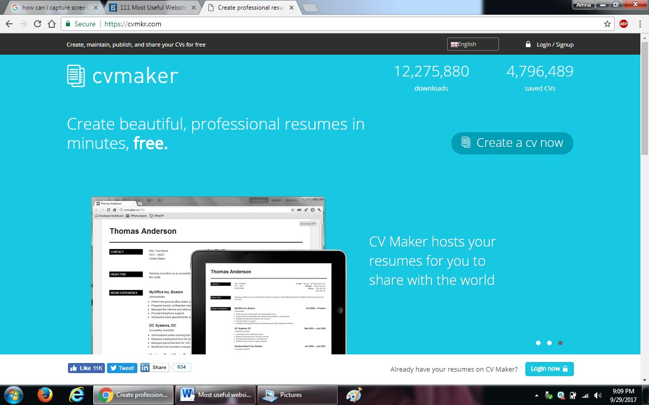 9. cvmaker - 100+ most useful websites list we are not yet familiar with